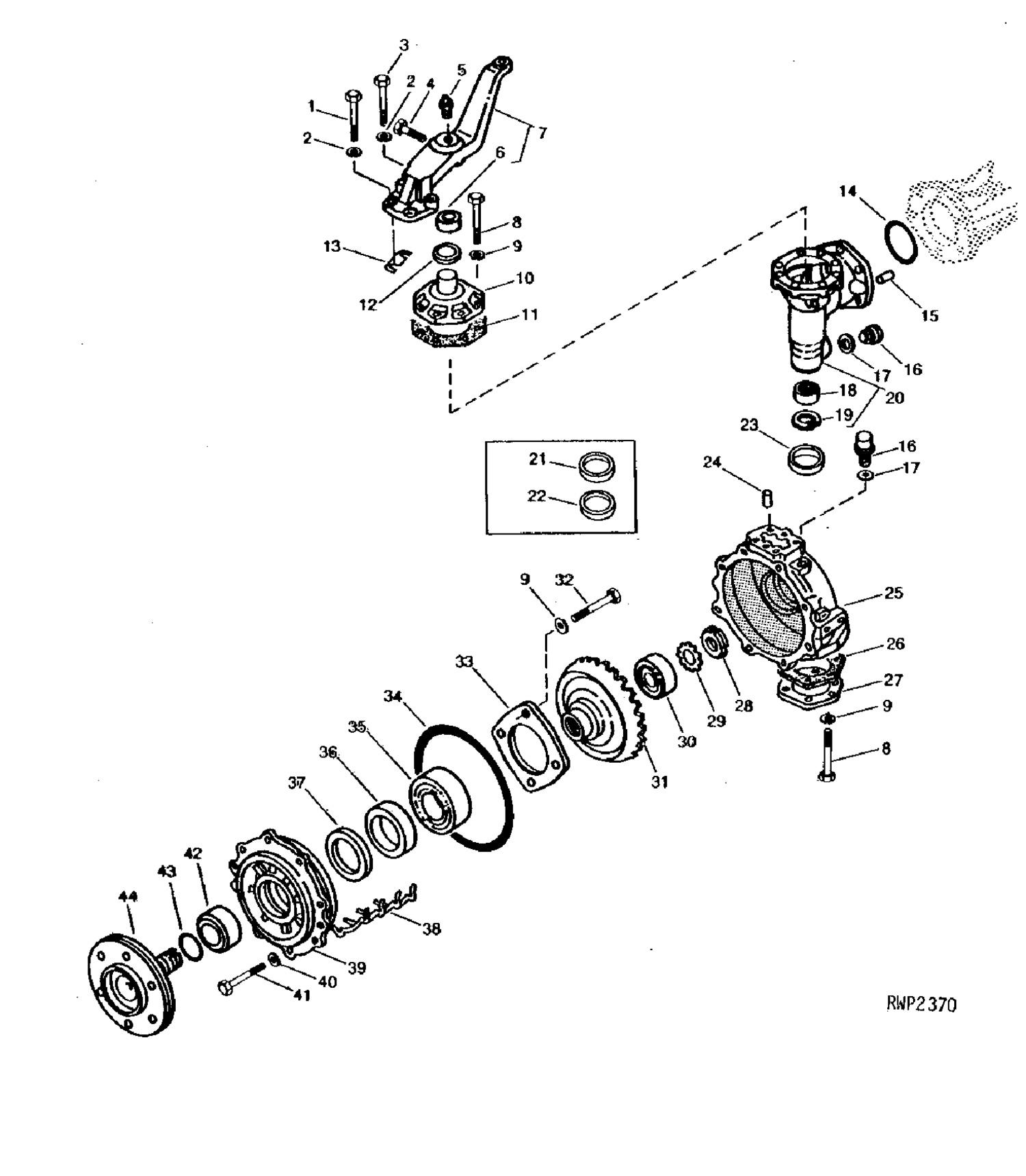 Front Axle Seals & Bearings for John Deere Compact Tractors