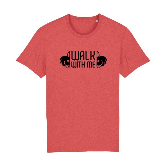 "T-shirt classica uomo ""Walk With Me"" mattone"
