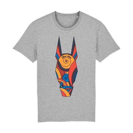 "T-shirt classica uomo ""Slow Time Colored"" grigia"