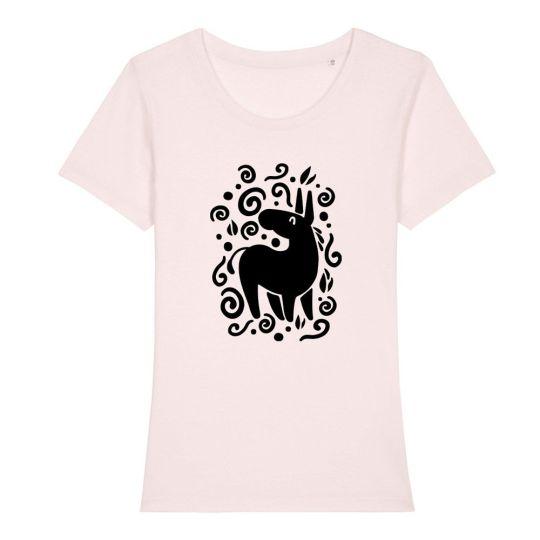 "T-shirt classica donna ""Unicorno"" bianca"