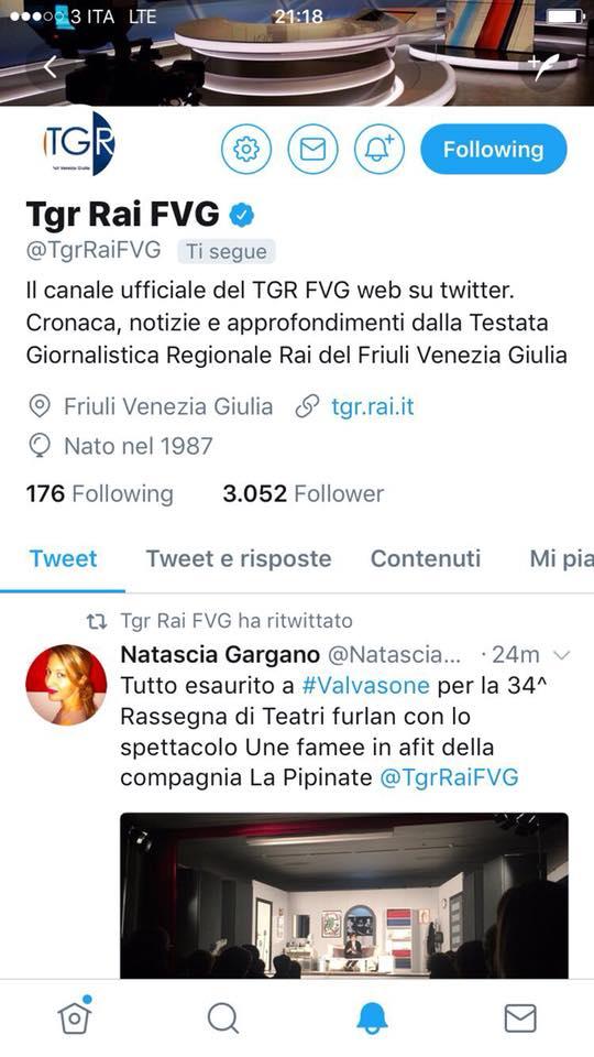 Tweet-RAI3-rassegna-teatrale-valvasone-replica-une-famee-in-afit-compagnia-teatrale-la-pipinate
