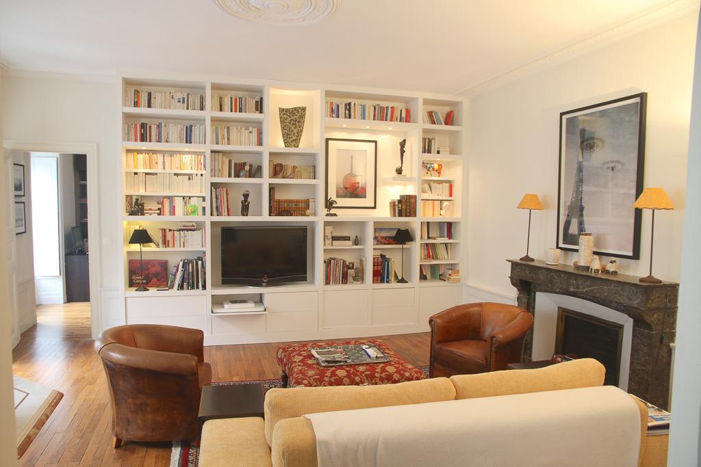 un meuble tv bibliotheque sur mesure