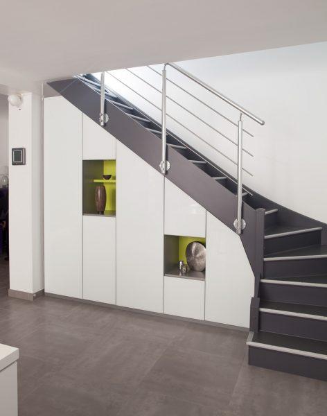 meubles sur mesure en sous escaliers