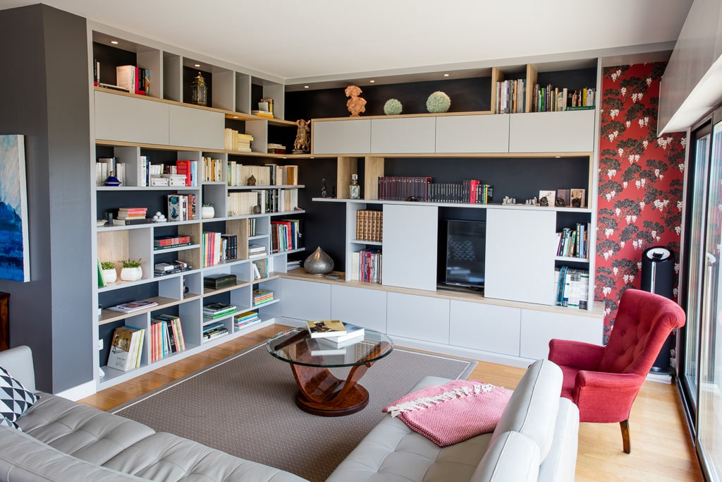 bibliotheque meuble tele compagnie