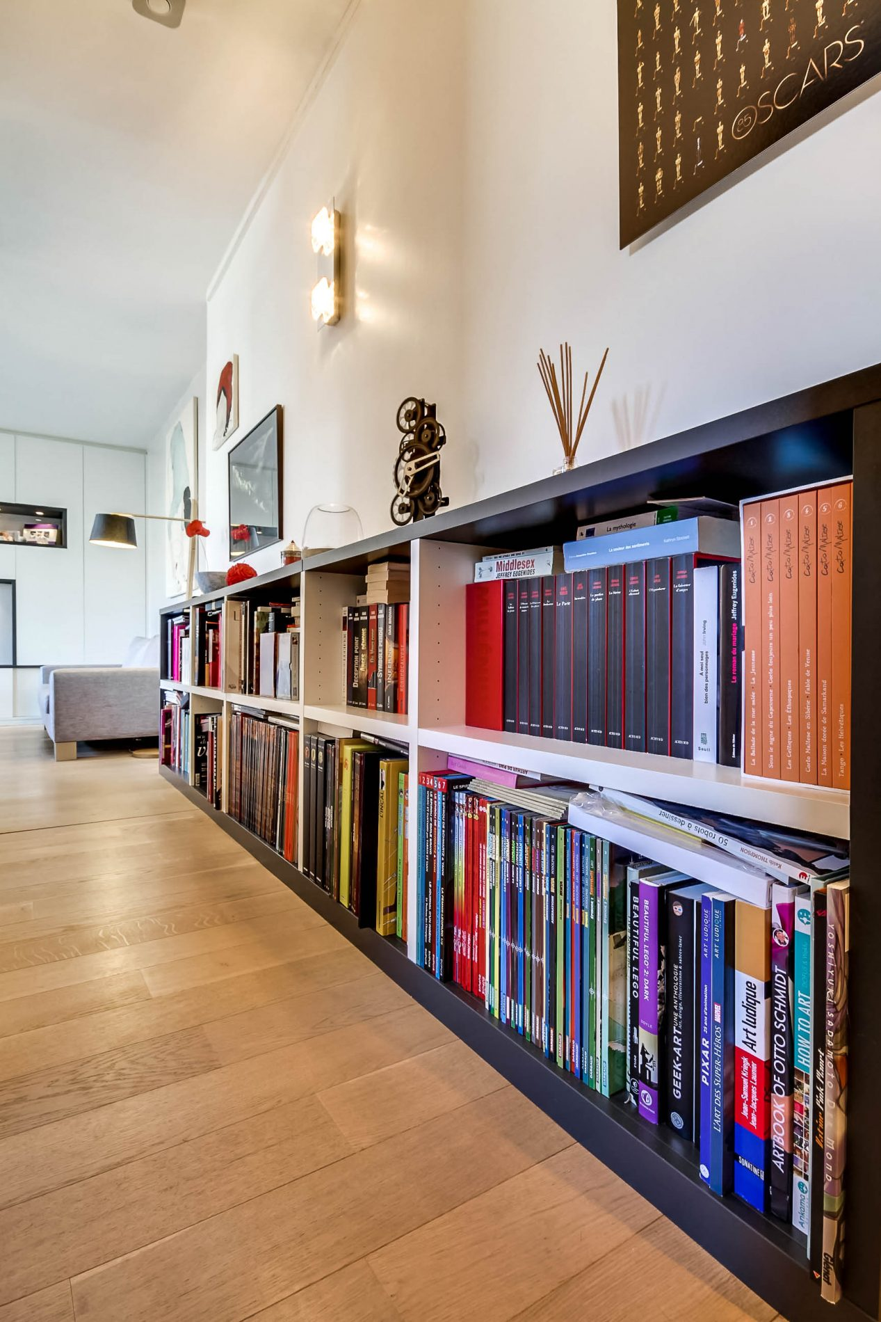bibliotheque basse tres tendance
