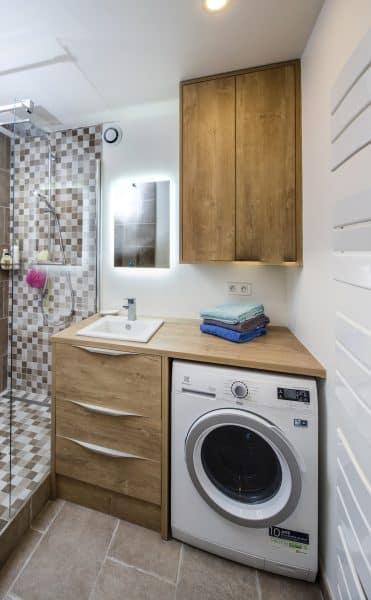 salle de bain amenagee design et sur