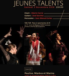 Sa 3 Novembre 2018- Spectacle flamenco Jeunes talents Toulouse