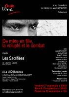 """Pièce de théâtre adaptée de """"Les sacrifiées"""" de Laurent Gaudé"""