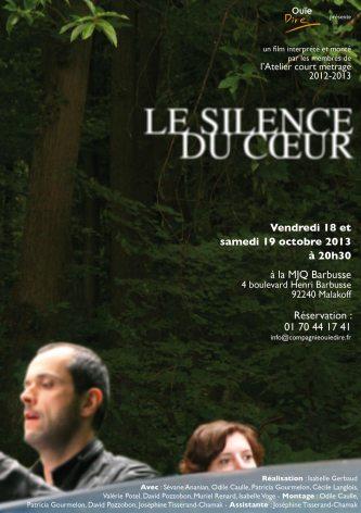 Le silence du coeur, film réalisé dans le cadre de l'atelier court-métrage 2012-2013