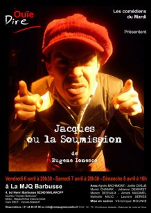 Jacques ou la soumission de Ionesco