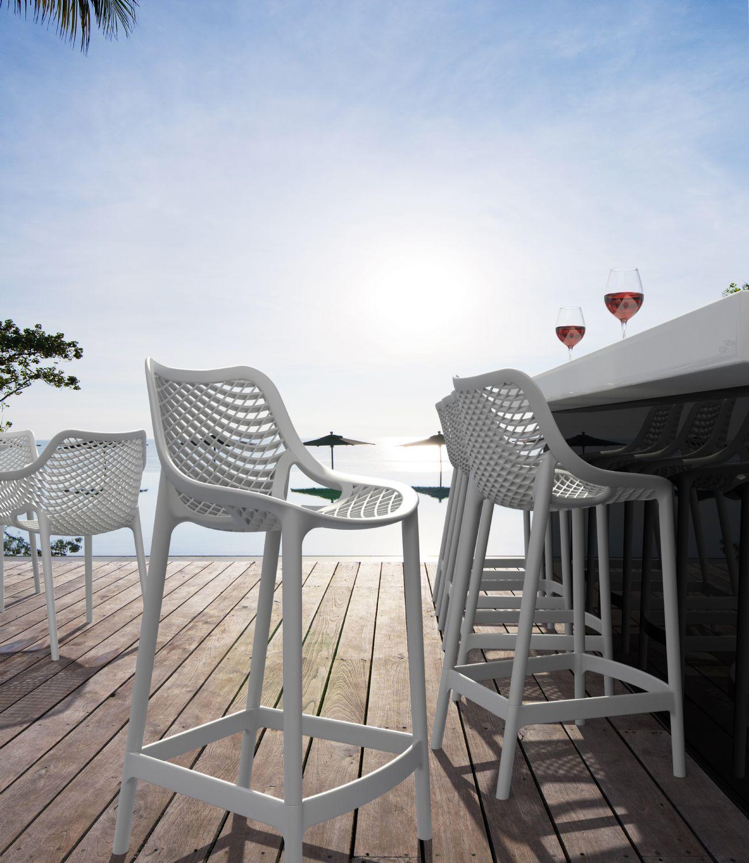 Compamia  Air Resin Outdoor Counter Chair Tropical Green