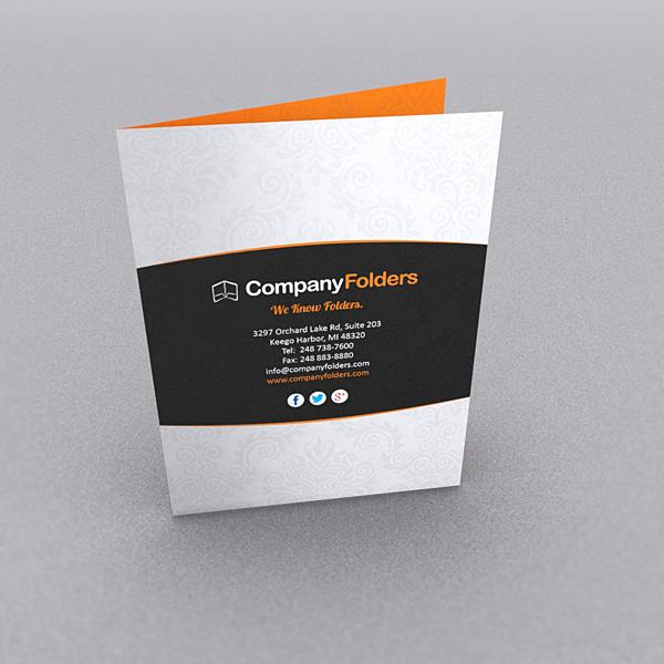 single fold brochures