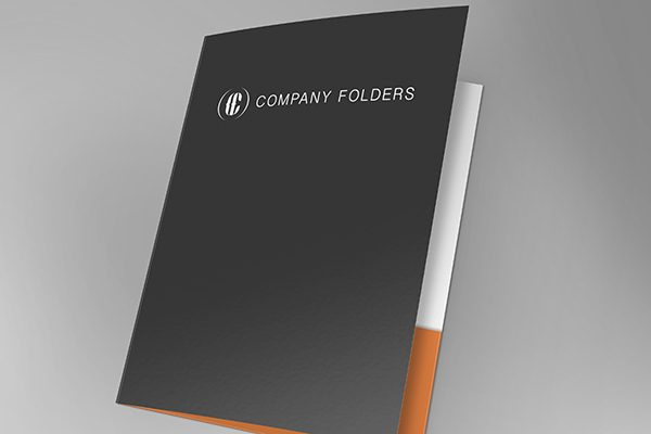 Front Open Folder Mockup Template Free PSD