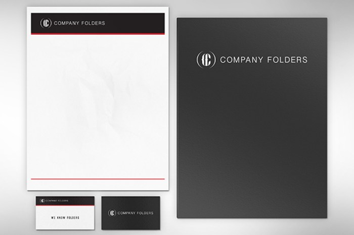 Folder, Letterhead & Business Card Mockup Template
