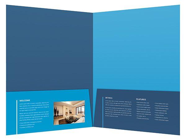 Eco Real Estate Pocket Folder  Brochure Template