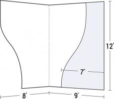 Custom Printed Serpentine Cut Right Pocket Presentation Folder