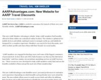 AARP - AARPAdvantages.com: New Website for AARP Travel ...
