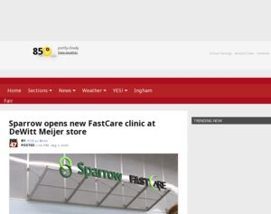 Meijer  Sparrow opens new FastCare clinic at DeWitt