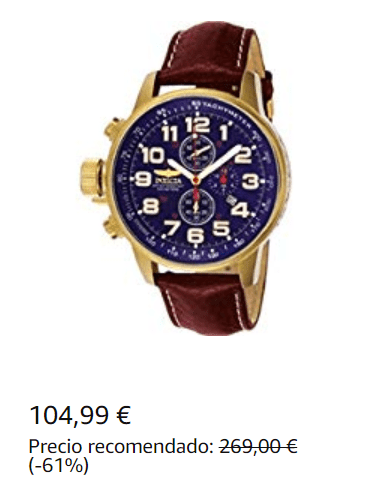 Reloj Invicta Dorado