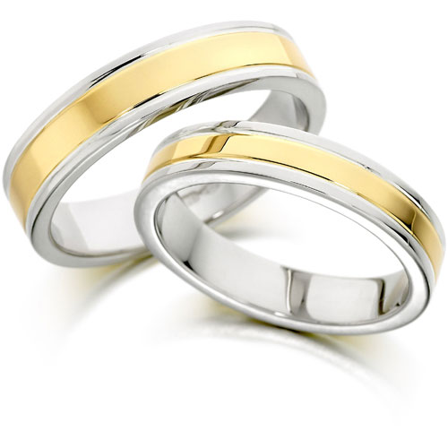 Jewelry Collection Two Tone Wedding Bands