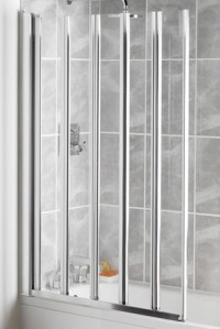 5 panel shower screens