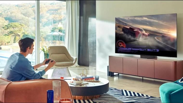 Samsung QN90A Neo QLED gaming i rum