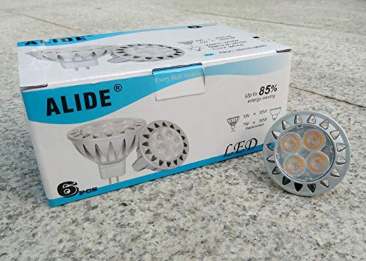 alide mr16 led bulbs 5w replace 20w 35w halogen equivalent 2700k soft warm white 12v low voltage mr16 gu5 3 bulb spotlights for outdoor landscape