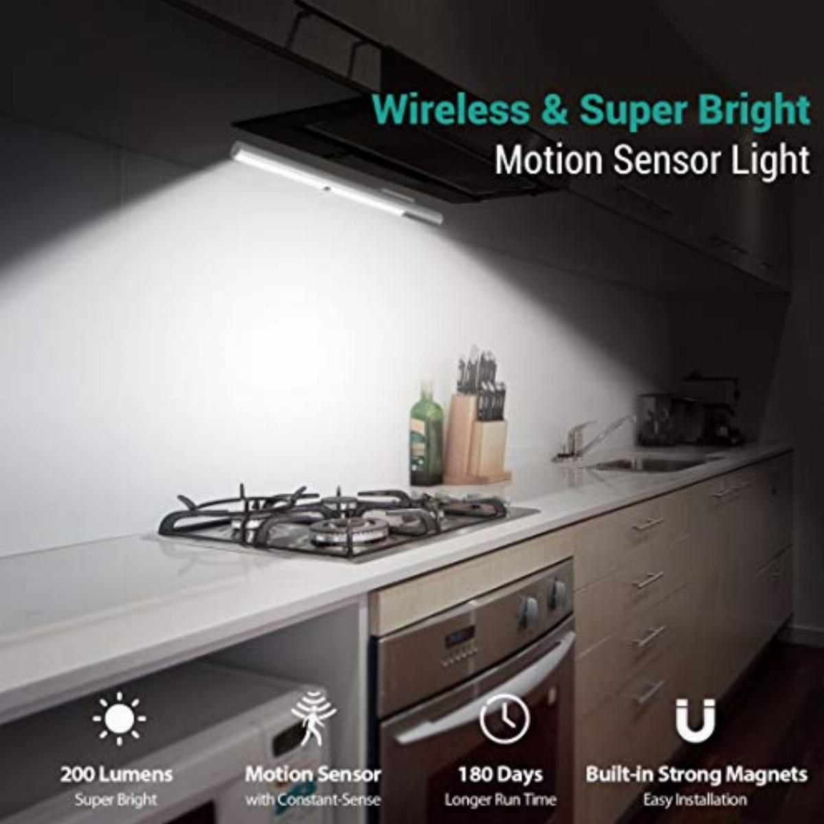 bls led closet light battery powered t401 super bright wireless under cabinet lighting motion sensor light 4000mah rechargeable battery operated