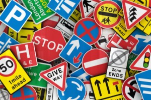 Many British traffic signs