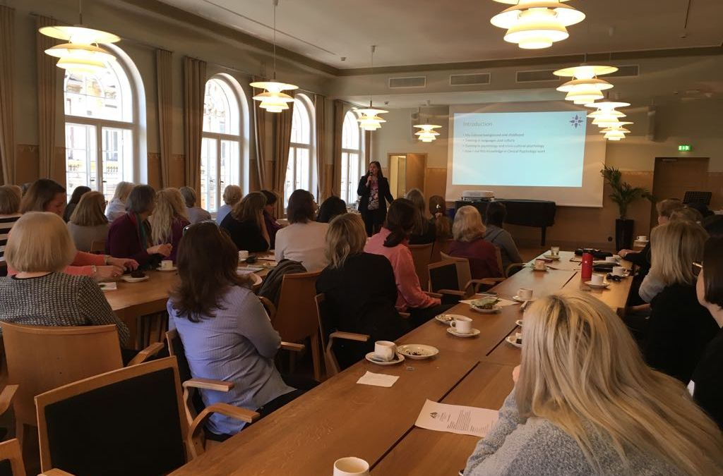 Speaking to the American Women's Club about Finnish and American cultural differences