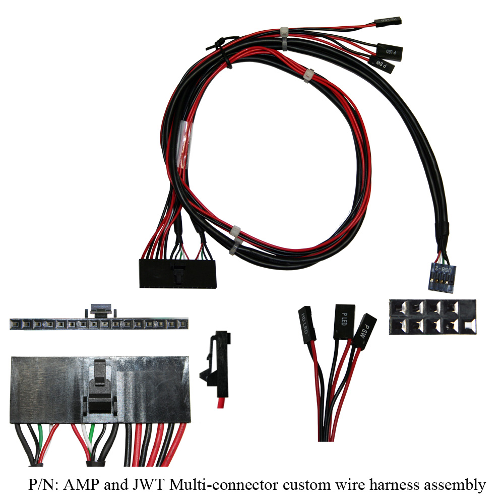 medium resolution of amp and jwt multi connector custom wire harness assembly