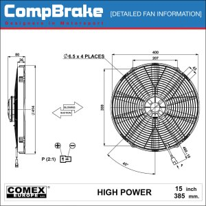 Comex 12v High Power Cooling Fan 152