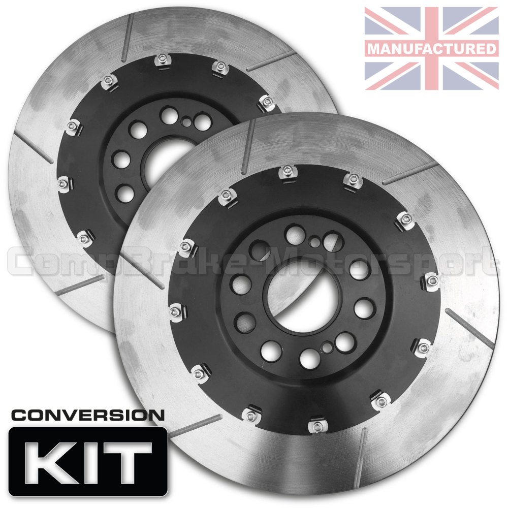 medium resolution of vw polo s2000 355 x 28mm front 2 piece floating brake disc conversion kit bell rotor combo pair 2 piece disc conversions vw polo www compbrake com