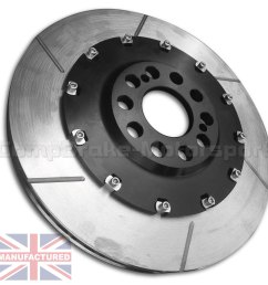 vw polo s2000 355 x 28mm front 2 piece floating brake disc conversion kit bell rotor combo pair 2 piece disc conversions vw polo www compbrake com [ 1500 x 1500 Pixel ]