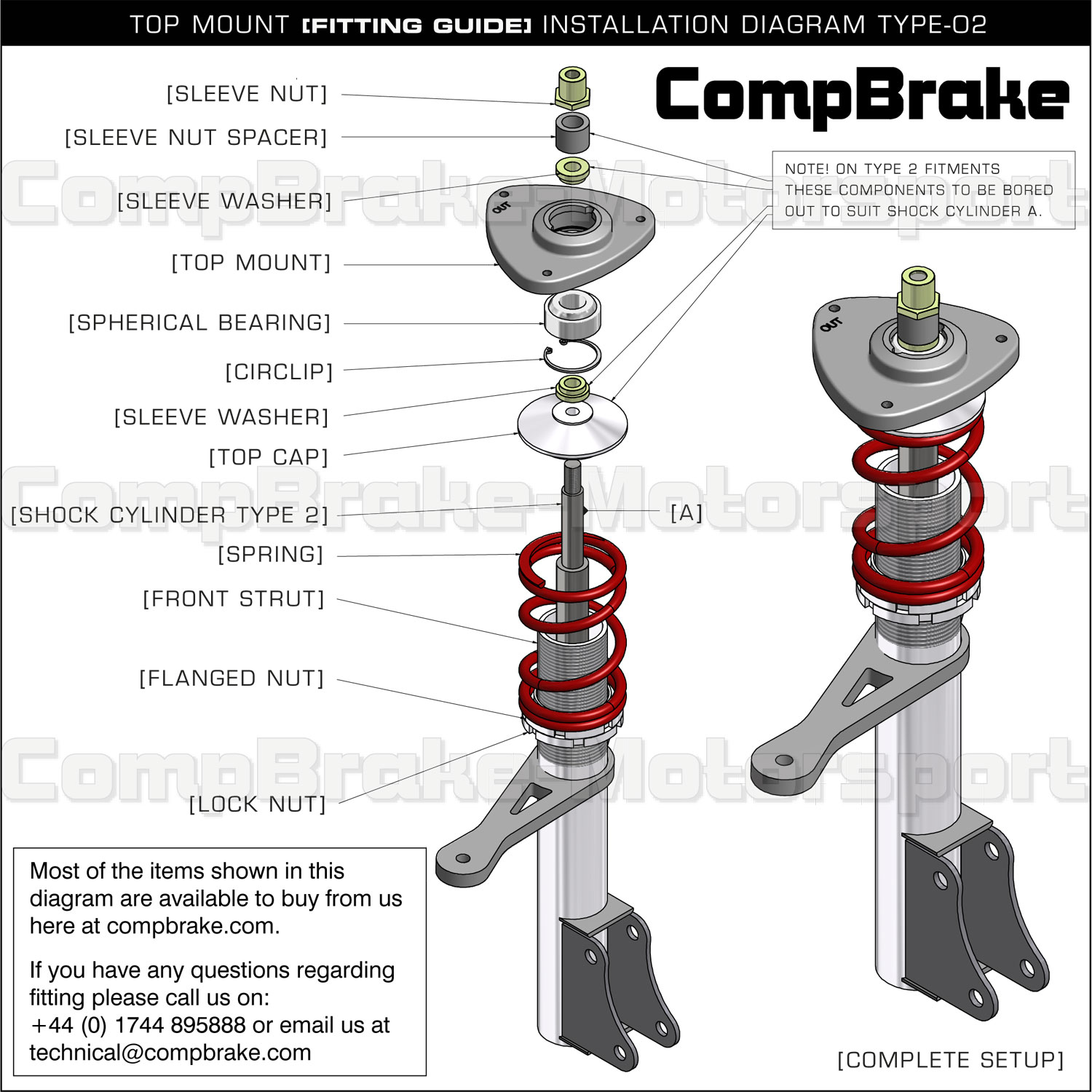 ford fiesta mk6 audio wiring diagram driving lights hilux mk4 5 front fixed suspension top mount pair mounts www compbrake com