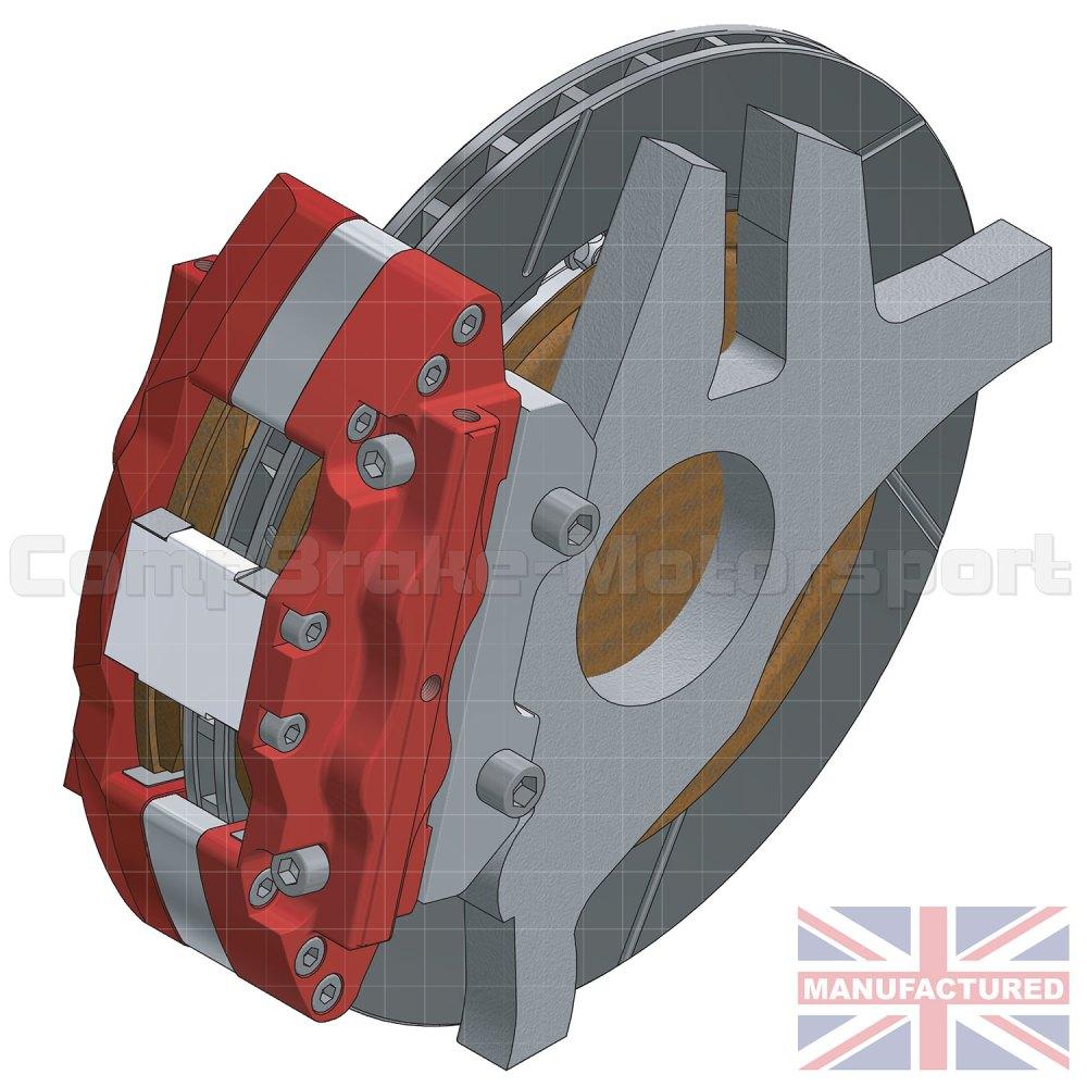 medium resolution of mercedes sl500 rear 17 brake kit 6 pot calipers pro race 11 330mm x 32mm rotors brake discs 5 stud sl500 brake kits rear brake kits mercedes
