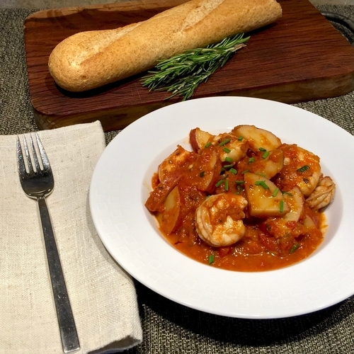 Spicy Shrimp and Potatoes