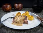 Beef Tenderloin with Green Peppercorn Sauce