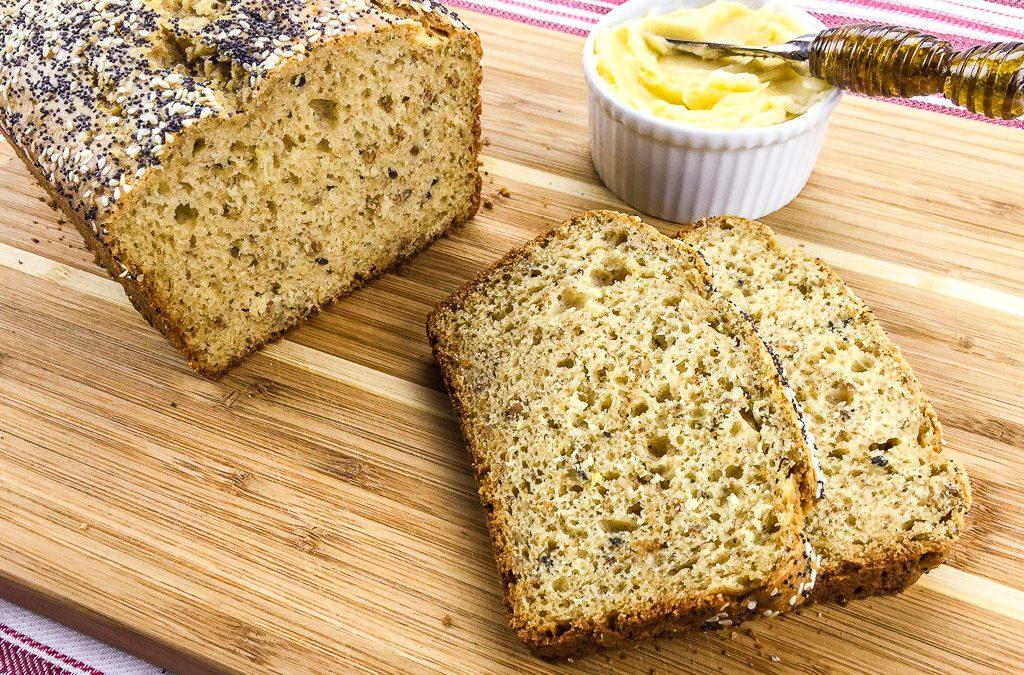 Crunchy Multigrain Loaf with Honey Butter