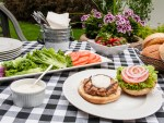 Italian Turkey Burgers with Basil Mayonnaise