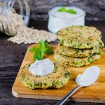 Crispy Lentil Cakes with Cucumber Raita are the perfect mix of crunch, spicy, cool and tangy.
