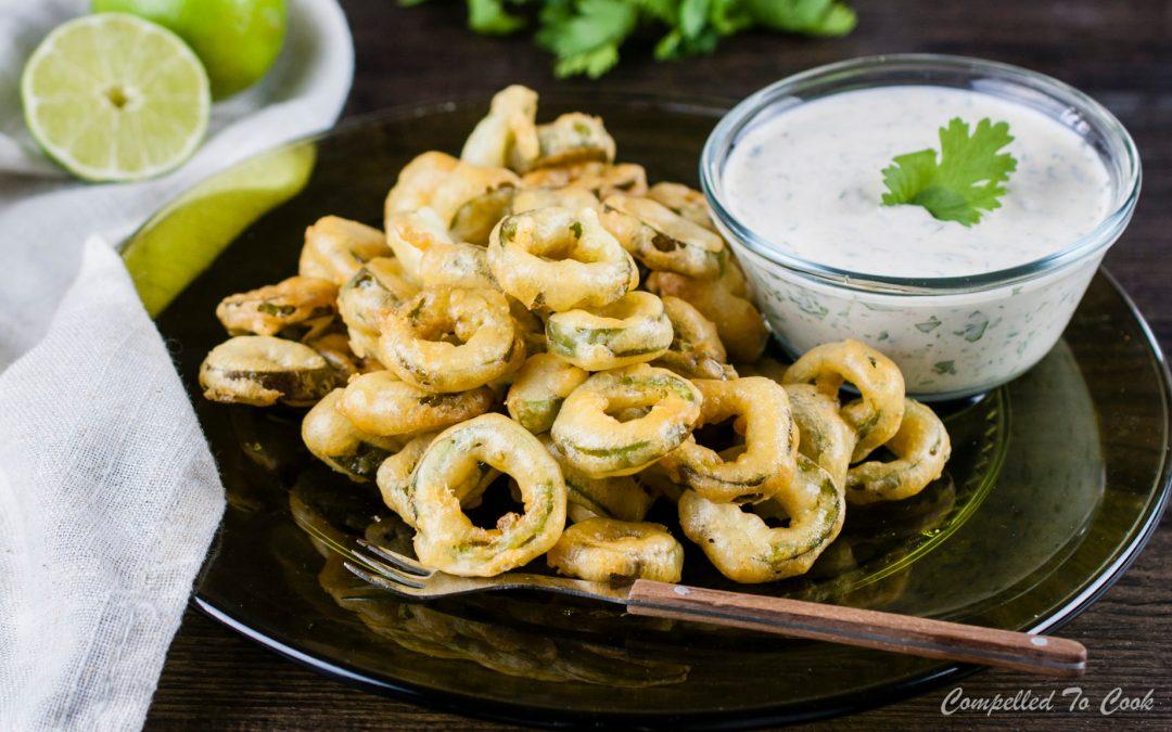 Jalapeño Rings with Cumin Dip