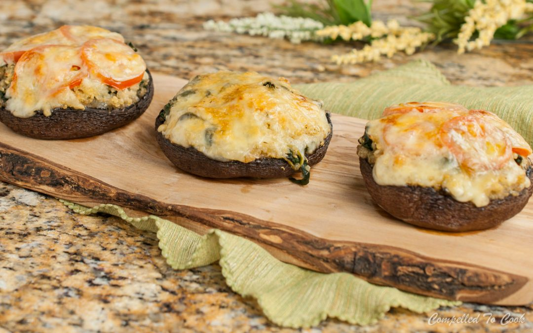 Spinach and Quinoa Stuffed Portabella Mushrooms
