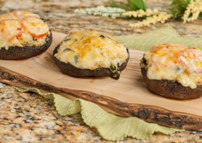 Spinach and Quinoa Stuffed Portabella Mushrooms