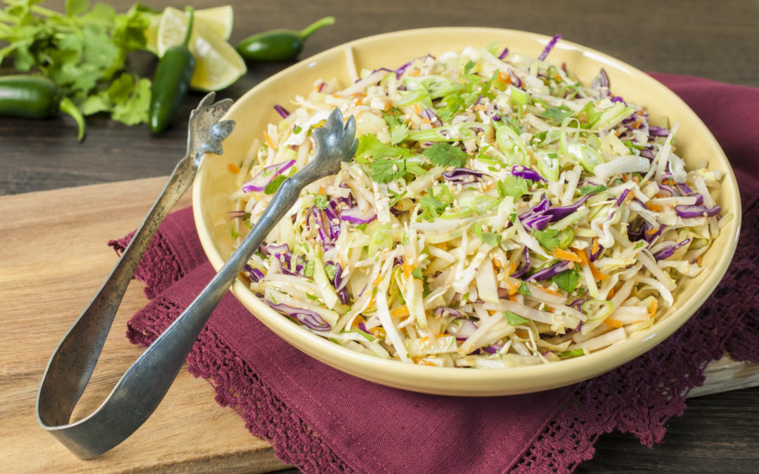 Asian Kohlrabi Slaw Compelled To Cook