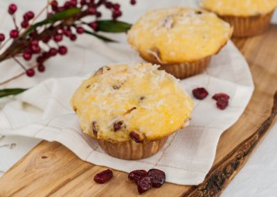 Coconut Cranberry Pumpkin Muffins