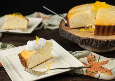 Cardamom Orange Yogurt Cake