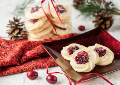 Roasted Cranberry Whipped Shortbread