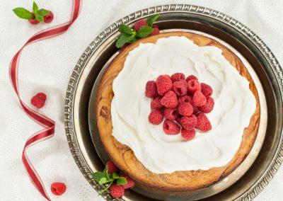 Raspberry Swirl Cake