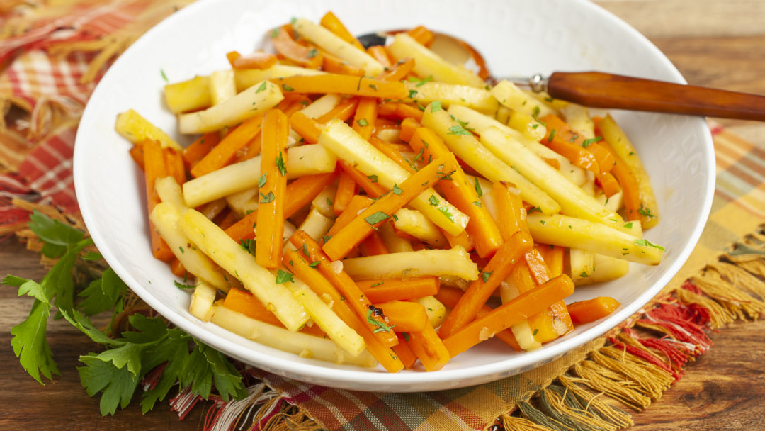 Honey Garlic Carrots and Parsnips